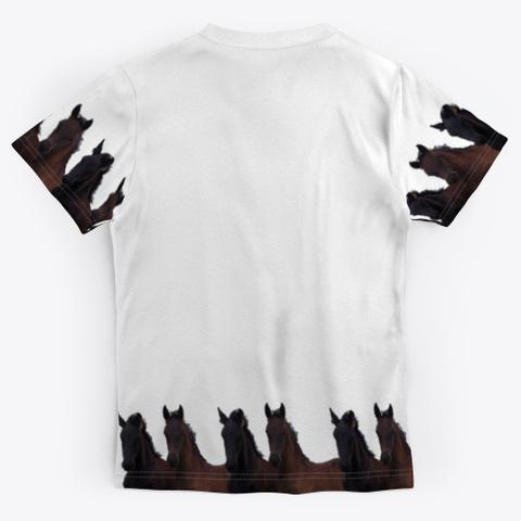 Friesian Horses 'lianne & Jacobien' Standard T-Shirt Back