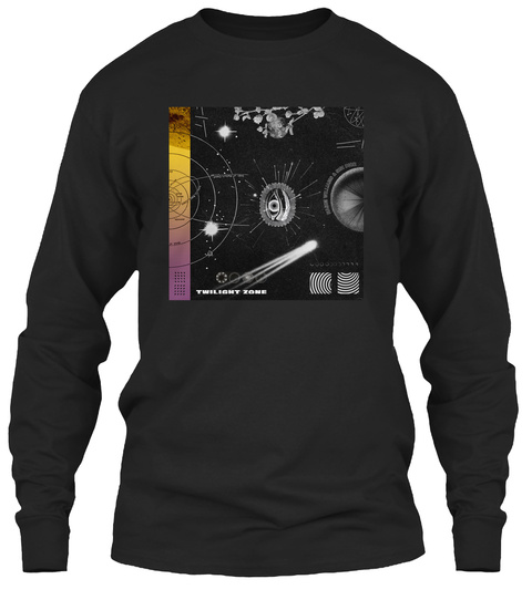 Zoned Out Black Long Sleeve T-Shirt Front
