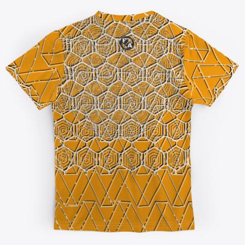 Fitness Addict Patterns Orange T-Shirt Back