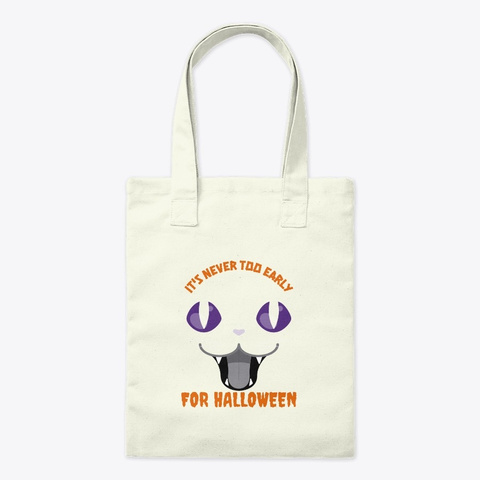 Scary Cat It's Never Too Early For Hallo Natural T-Shirt Front
