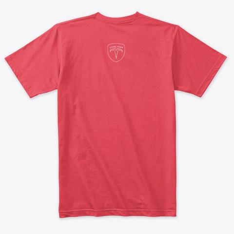 Model 3 Making Vandals Famous Vintage Red T-Shirt Back