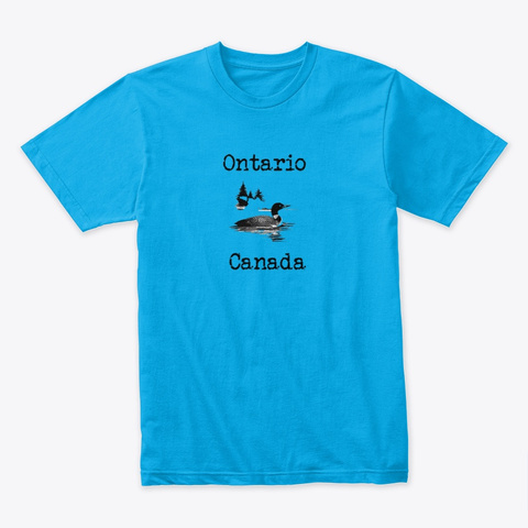 Ontario Canada Turquoise T-Shirt Front