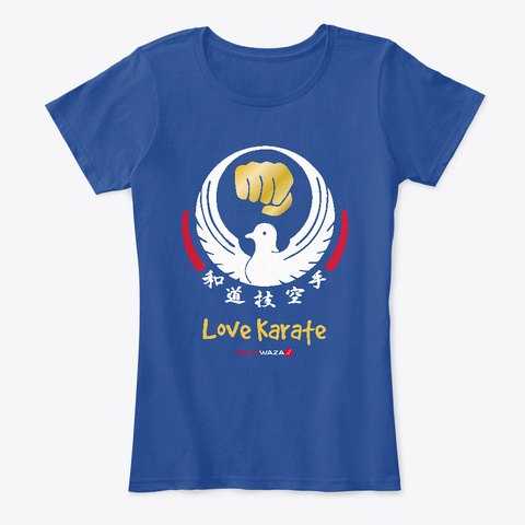 Love Karate For Women Deep Royal  T-Shirt Front