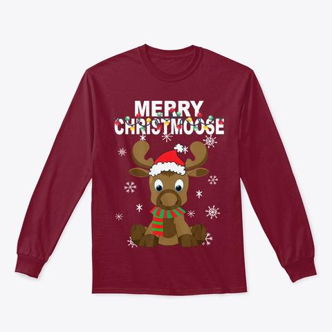 Merry Christmas Reindeer Baby T Shirt Cardinal Red T-Shirt Front