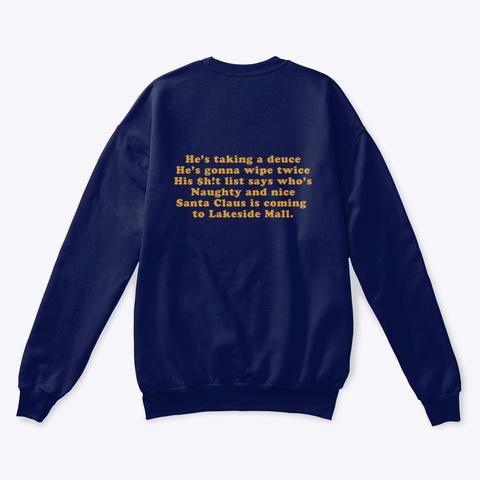 Santa's Sh!T List  Navy  T-Shirt Back