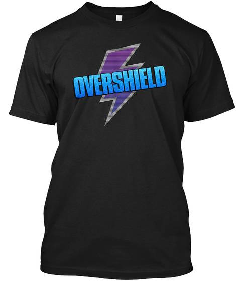 Overshield   Gaming Merchandise (Us)  Black T-Shirt Front
