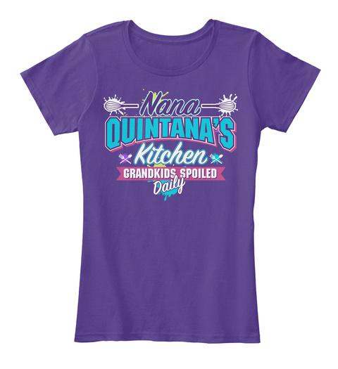 Nana Quintana's Kitchen Purple T-Shirt Front