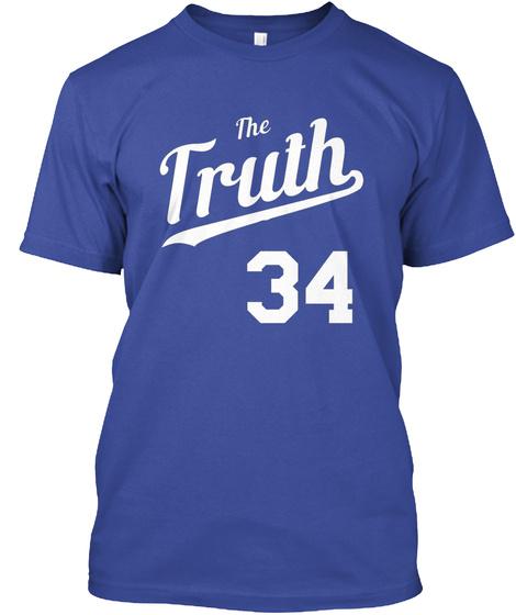 The Truth Retro Script 1 Deep Royal T-Shirt Front