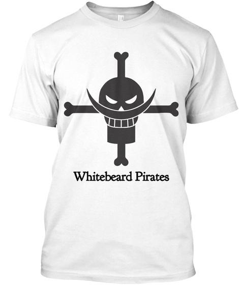 Whitebeard Pirates White Camiseta Front