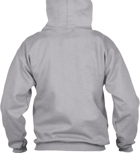 Pug Life Sport Grey Sweatshirt Back