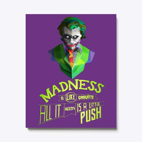 The Joker Canvas Print   Dc Comics Purple T-Shirt Front