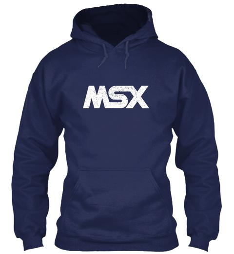 Msx Navy T-Shirt Front