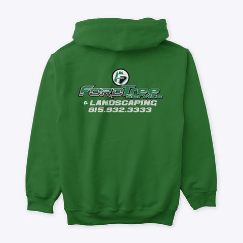 Chicago Area Tree Service Irish Green T-Shirt Back