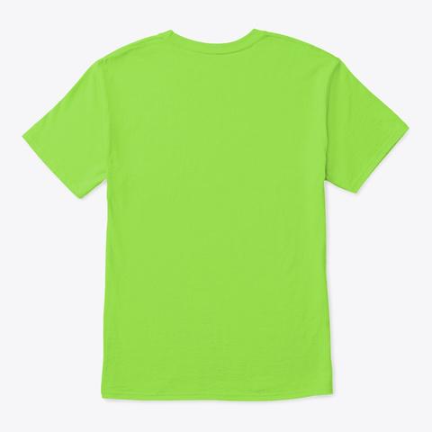 Liquid Drum And Bass Beach Palm Tree Lime T-Shirt Back
