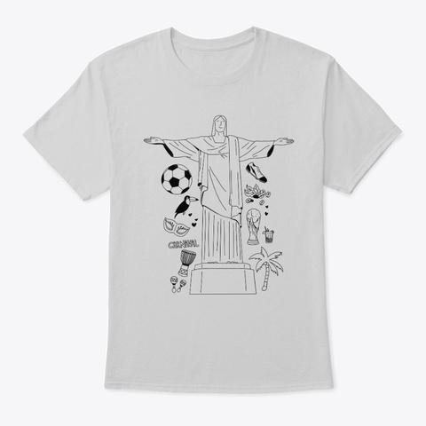 Brazil Light Steel T-Shirt Front