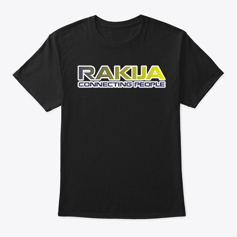 Rakija Connecting People Black T-Shirt Front