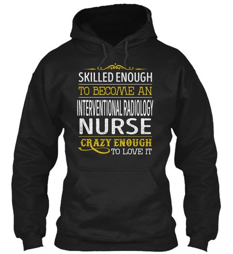 Interventional Radiology Nurse Black Maglietta Front