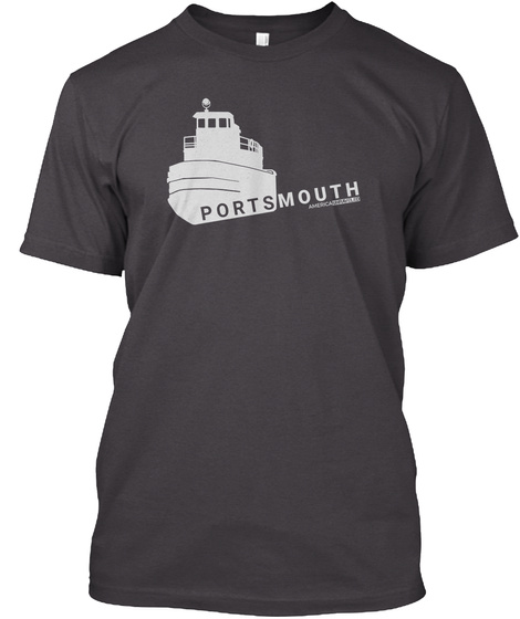 Portsmouth Heathered Charcoal  T-Shirt Front