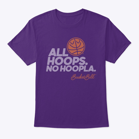 Basket Bill™ All Hoops. No Hoopla. (Mp) Purple Camiseta Front