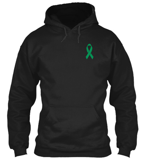 Liver Cancer Green Emerald Ribbon Hero Black Sweatshirt Front