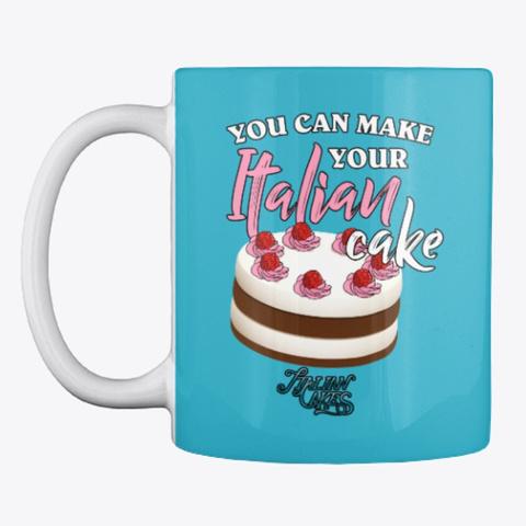 Italian Cake Design Style Mug Turquoise T-Shirt Front