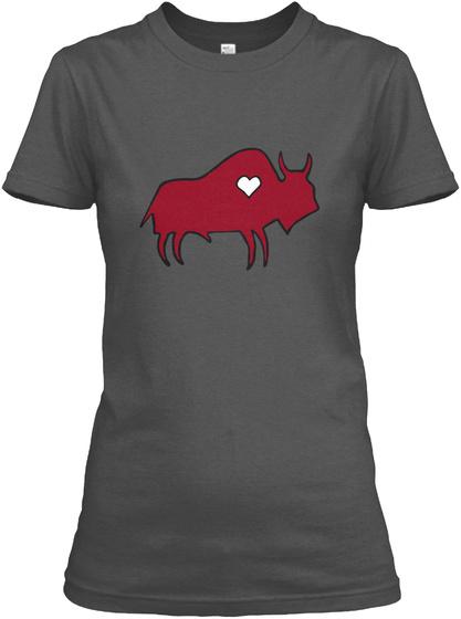 Buffalo Nation Charcoal Women's T-Shirt Front