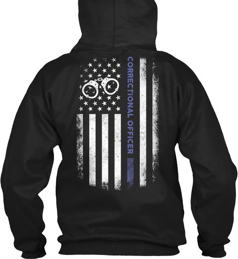 Correctional Officer Black T-Shirt Back