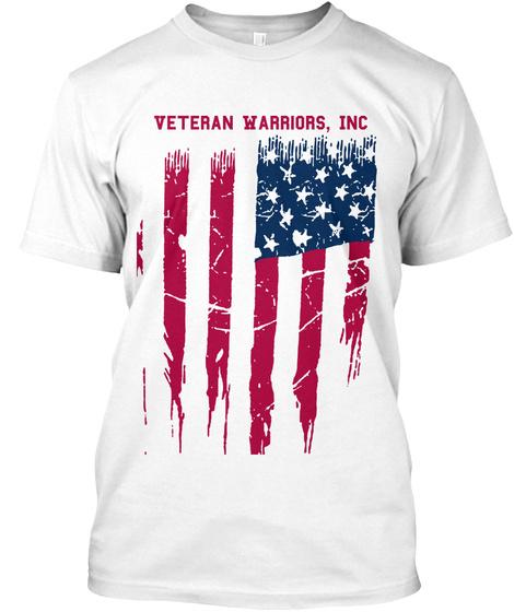 Veteran Warriors Inc White T-Shirt Front
