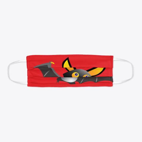 Cute Bat Red T-Shirt Flat