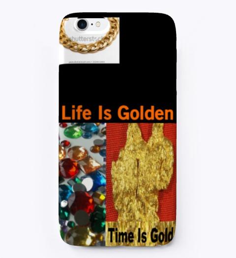 Life Is Golden Black T-Shirt Front