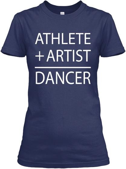 Athlete + Artist Dancer Navy T-Shirt Front