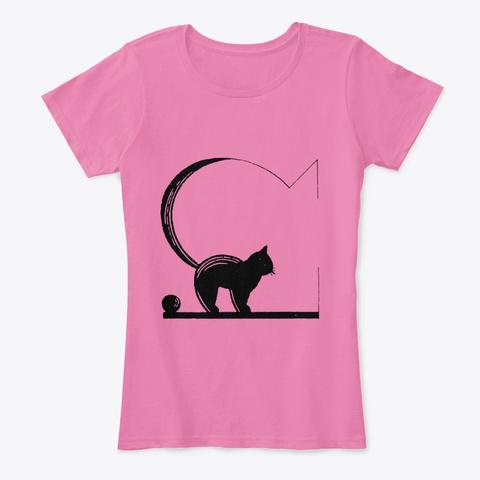 Black Cat  True Pink T-Shirt Front