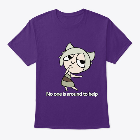 Peace And Tranquility Purple T-Shirt Front