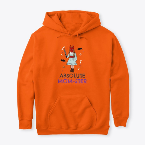 Absolute Mom Ster Safety Orange T-Shirt Front