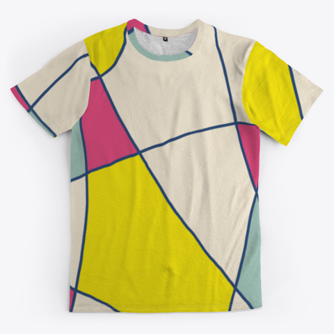 Abstract Patchwork Colorful Minimal Art Standard T-Shirt Front