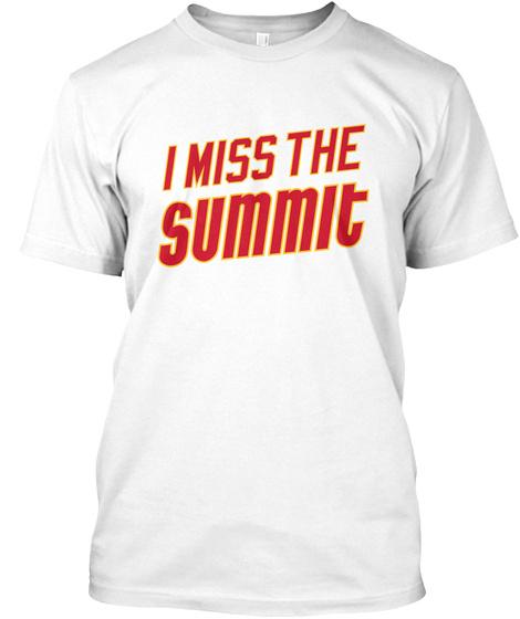 Naming Wrongs: Summit (White) White T-Shirt Front
