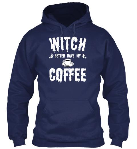 Coffee Halloween Mugs &Amp; Drinkware   Prin Navy Sweatshirt Front