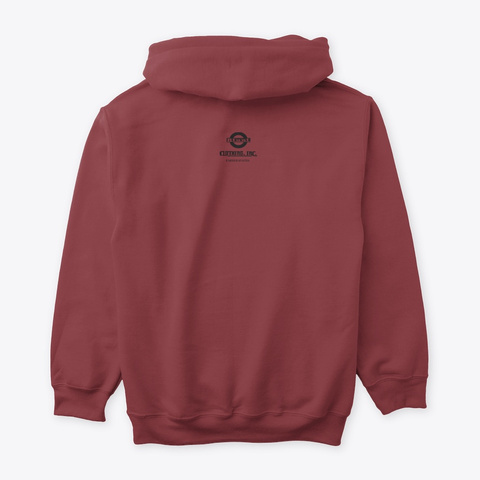 Blunt Clothing Hellbound Tee Maroon T-Shirt Back