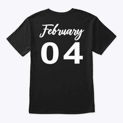 February 4   Aquarius Black T-Shirt Back