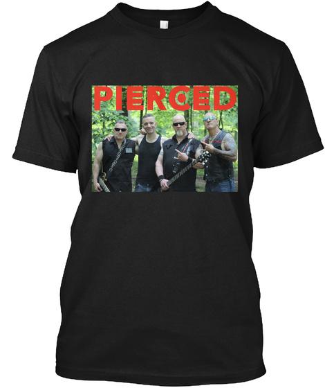 Pierced Black T-Shirt Front