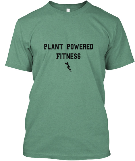 Plant Powered Fitness Green T-Shirt Front