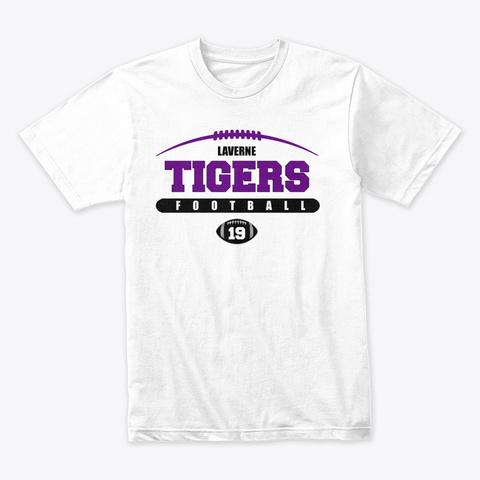 Tigers Football 2019 White T-Shirt Front
