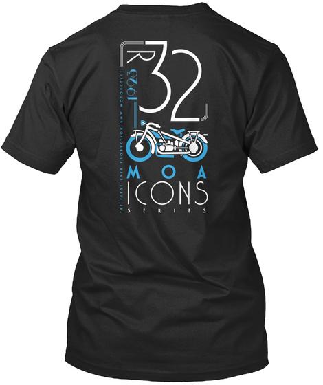 R 32 Moa Icons Black T-Shirt Back