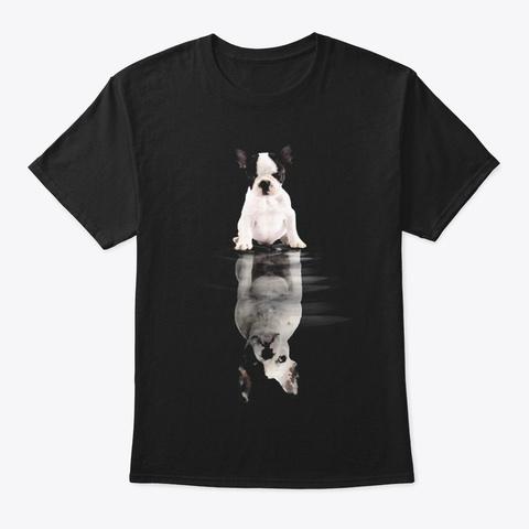 French Bulldog Black T-Shirt Front