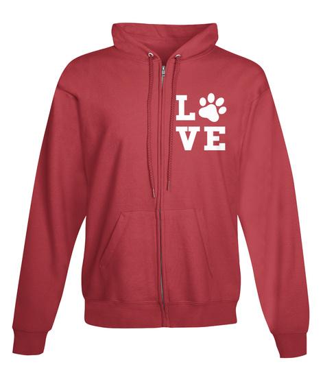 L Ve Deep Red Sweatshirt Front