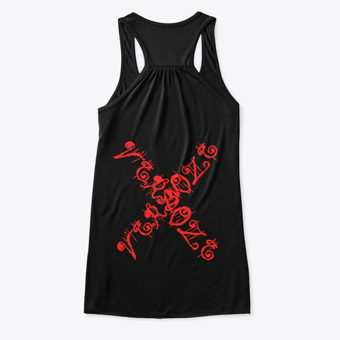 Verboze   Flowy Tanktop In Black/Red Black T-Shirt Back