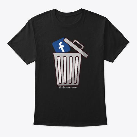 Taking Out Fake Book Trash Black T-Shirt Front