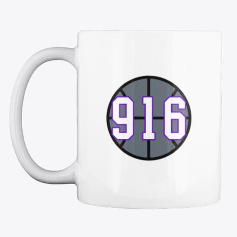916 Basketball Mug White T-Shirt Front