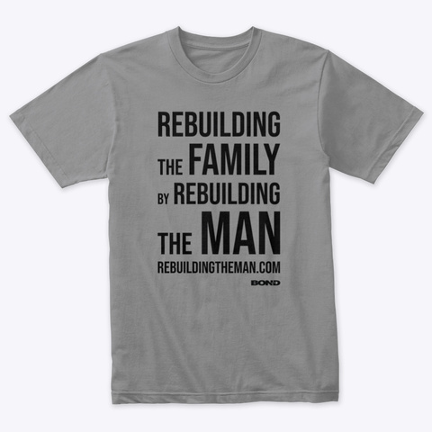 Rebuilding The Family Stack —Black Ink Premium Heather T-Shirt Front