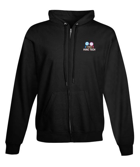 Hvac Tech Zipper Hoodie Xmas Spl Black T-Shirt Front